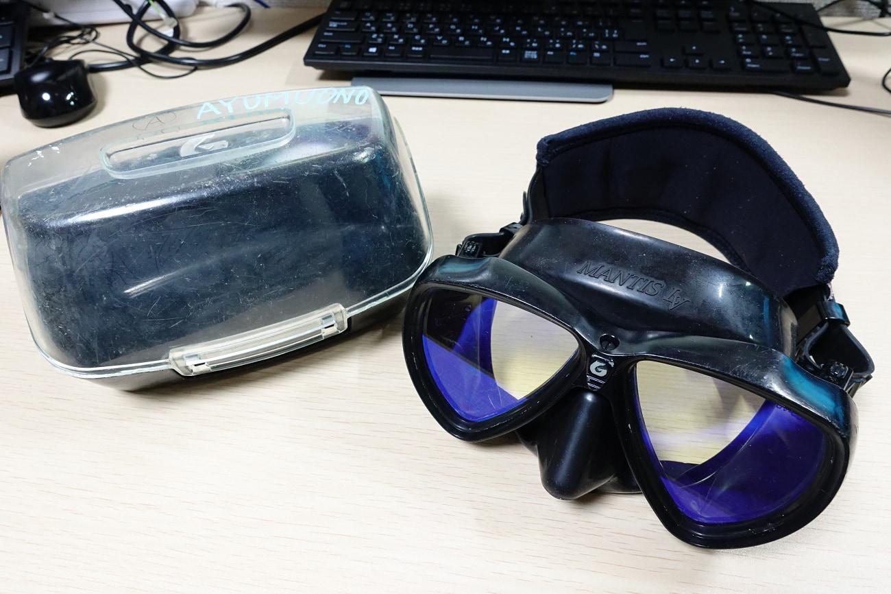 マスク 水中